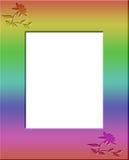 彩虹色的花卉框架边界 免版税库存图片