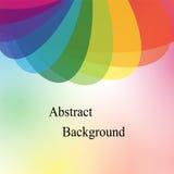 彩虹色的透明重叠的椭圆 飞行物、横幅、徽章、海报、贴纸和广告行动的模板 库存例证