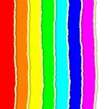 彩虹被撕毁的纸 免版税库存照片