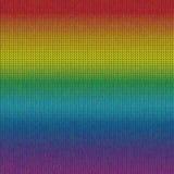 彩虹被编织的背景 库存照片