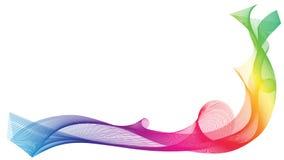 彩虹被隔绝的丝带波浪 免版税图库摄影