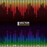 彩虹调平器背景 库存图片