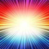 彩虹辐形条纹爆炸爆炸背景 免版税库存照片