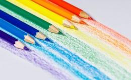 彩虹铅笔 免版税库存照片