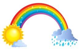 彩虹题目图象1 向量例证