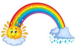 彩虹题目图象3 向量例证