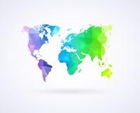 彩虹颜色世界地图  免版税图库摄影