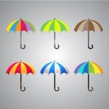 彩虹颜色伞 库存照片