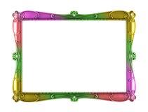 彩虹颜色金属艺术框架 图库摄影