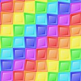 彩虹马赛克样式 库存图片