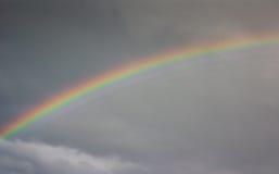 彩虹,树篱末端,英国 库存照片