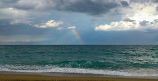 彩虹,巴塞罗那 图库摄影