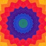 彩虹织品圆的样式 库存图片