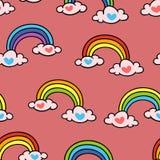 彩虹 模式无缝的向量 皇族释放例证