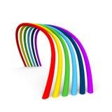 彩虹3D 库存照片