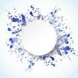水彩被绘的抽象背景 传染媒介飞溅蓝色横幅 免版税库存图片