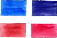 水彩长方形的汇集设计的 皇族释放例证