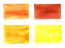 水彩长方形的汇集设计的 向量例证