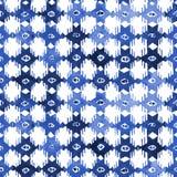 水彩靛蓝蜡染布shobori样式 库存照片
