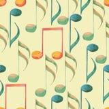 水彩音乐样式 库存例证