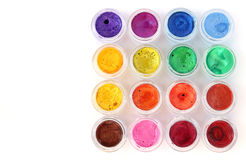 水彩以各种各样的颜色 免版税库存图片