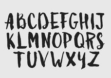 水彩水彩画字体类型手写的手 免版税库存照片