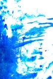 水彩绘摘要 蓝色树荫 图库摄影