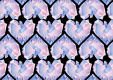 水彩水晶样式 库存照片