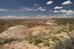 彩绘沙漠国家公园在8月- Arizonad 免版税库存照片