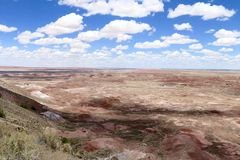 彩绘沙漠在亚利桑那美国- 1 图库摄影