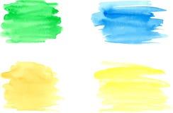 水彩绘画的技巧 向量例证