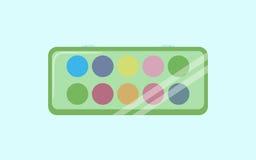 水彩绘箱子象 水彩的动画片例证绘箱子网络设计的传染媒介象 库存照片