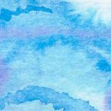 水彩水色背景抽象手拉的绘画 免版税图库摄影
