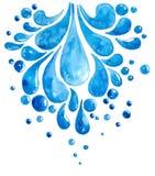 水水彩滴  向量例证