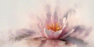 水彩lotos 库存图片