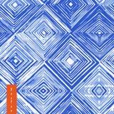 水彩shibori无缝的样式 免版税库存图片
