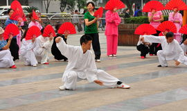 彭州,中国:人执行的Tai '池氏 免版税图库摄影