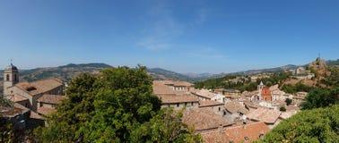 彭纳比利美丽的景色,小comune在意大利 库存图片