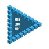 以彭罗斯三角的形式商标 免版税库存照片