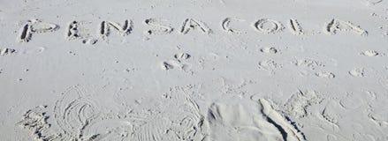 彭萨科拉海滩,佛罗里达明信片 库存图片