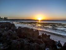 彭巴天堂海滩,北部莫桑比克 图库摄影