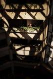 阴影几何透明屋顶  免版税图库摄影