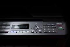 影印机扫描电传按钮01 免版税库存图片