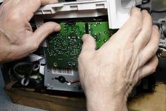 影印机的修理 免版税图库摄影