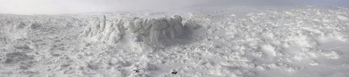 影响仿造结果雪星期日风 库存图片