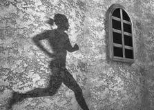 影子墙壁 免版税库存图片