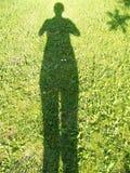 影子妇女 库存照片