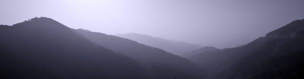 阴影小山,西班牙 库存照片