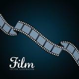 影片和戏院象 免版税库存照片