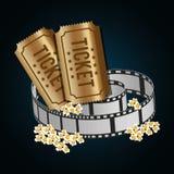 影片和戏院象 免版税库存图片